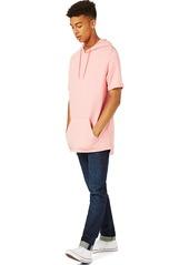 Topman Oversize Short Sleeve Hoodie
