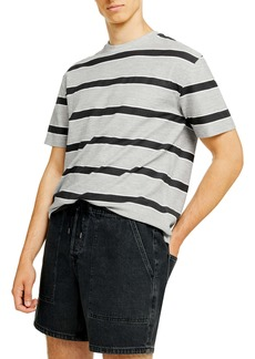 Topman Oversize Stripe Loopback T-Shirt