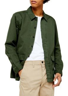 Topman Oversize Twill Shirt Jacket