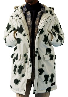 Topman Oversized Abstract Print Parka