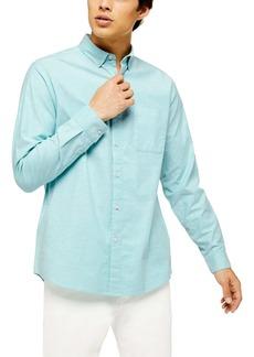 Topman Oxford Skinny Fit Stretch Cotton Button-Down Shirt