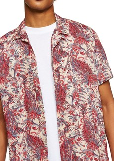Topman Paisley Camp Shirt