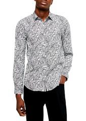 Topman Paisley Classic Button Up Shirt