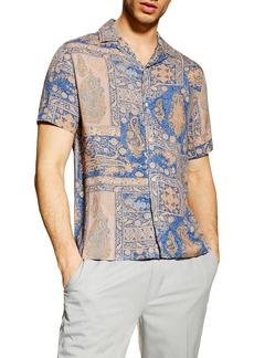 Topman Paisley Print Camp Shirt
