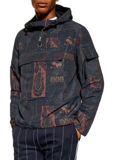 Topman Paisley Windbreaker Jacket