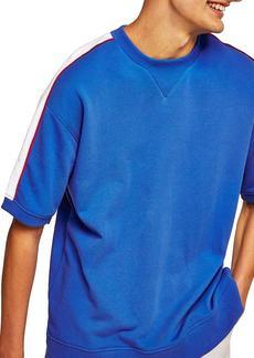 Topman Panel Short Sleeve Sweatshirt