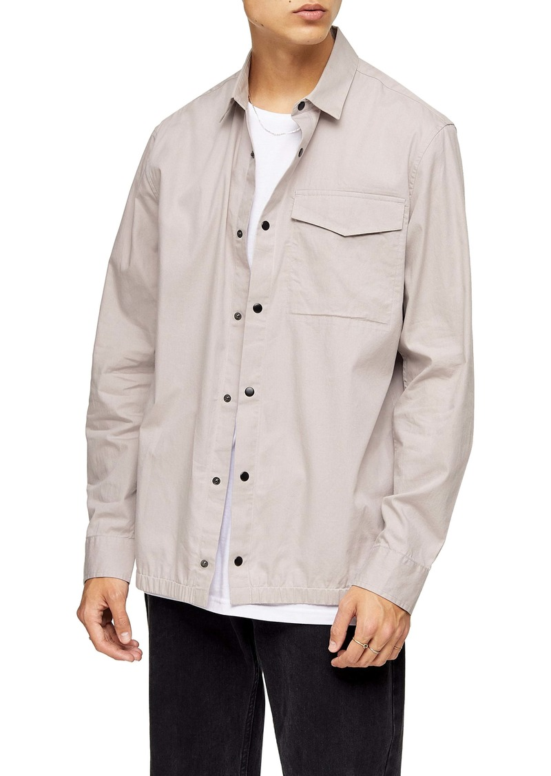 Topman Papertouch Snap-Up Overshirt