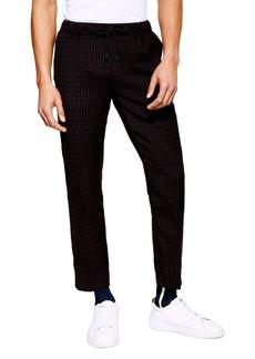 Topman Pinstripe Crop Trousers