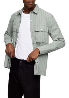 Topman Pinstripe Overshirt