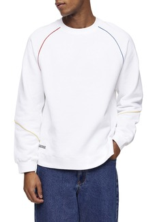 Topman Piped Crewneck Sweatshirt
