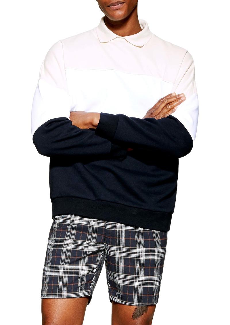 Topman Plaid Pleated Shorts
