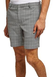 Topman Plaid Print Shorts