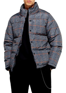 Topman Plaid Puffer Jacket