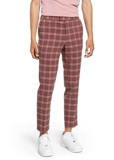 Topman Plaid Skinny Fit Crop Dress Pants