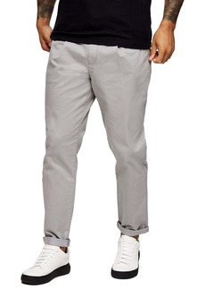 Topman Pleated Front Tapered Trousers