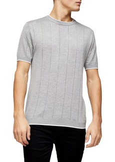 Topman Pointelle Short Sleeve Sweater
