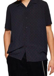 Topman Polka Dot Short Sleeve Shirt