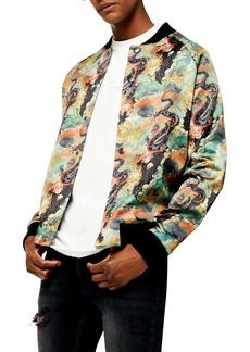 Topman Print Bomber Jacket