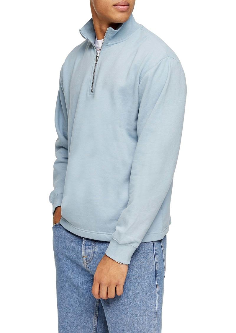 Topman Quarter Zip Pullover