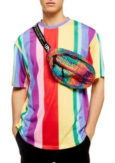 Topman Rainbow Stripe T-Shirt