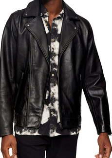 Topman Ray Leather Biker Jacket