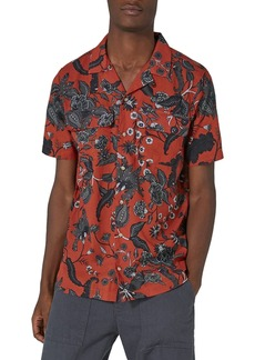 Topman Red Floral Revere Collar Shirt