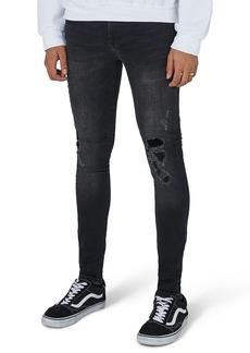 Topman Repair Spray-On Skinny Fit Jeans
