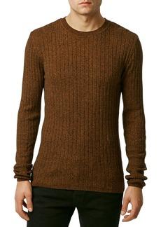 Topman Rib Knit Crewneck Sweater