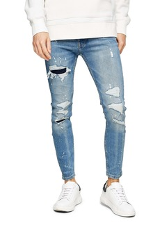 Topman Rip & Repair Skinny Jeans