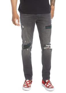 Topman Rip 'n' Repair Slim Fit Jeans