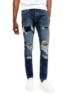 Topman Ripped Skinny Jeans
