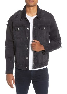 Topman Ripped Western Denim Jacket