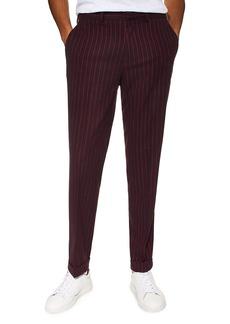 Topman Rocky Slim Fit Pinstripe Trousers