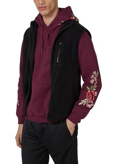 Topman Rose Embroidered Hoodie