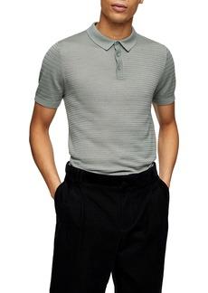 Topman Sage Stitch Short Sleeve Polo