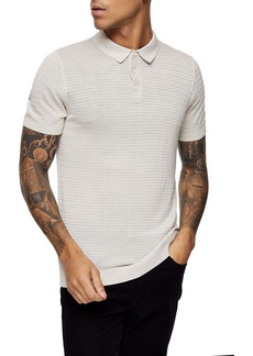 Topman Sage Stitch Short Sleeve Polo