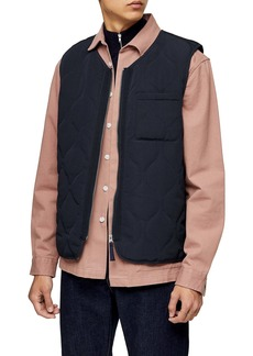 Topman Shallot Quilted Vest