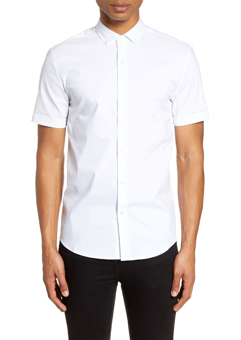 Topman Short Sleeve Button-Down Shirt