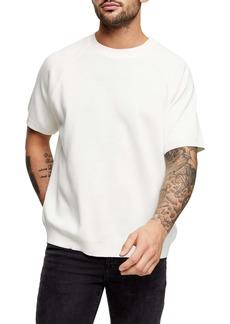 Topman Short Sleeve Crewneck Sweater