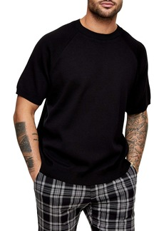 Topman Short Sleeve Crewneck Sweater