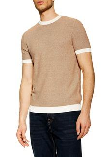 Topman Short Sleeve Sweater T-Shirt