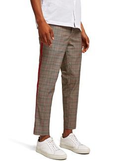 Topman Side Stripe Skinny Fit Cropped Trousers