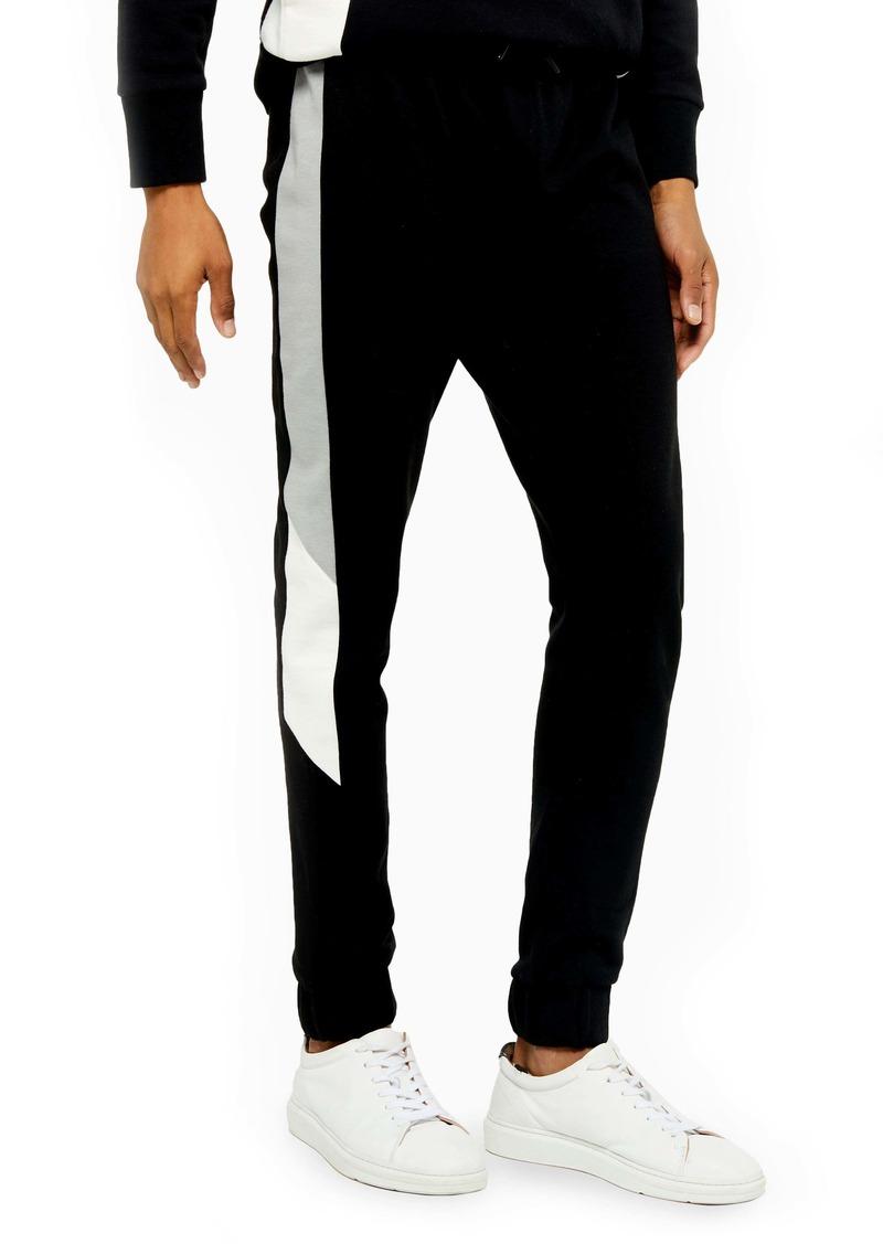 Topman Side Stripe Skinny Fit Jogger Pants