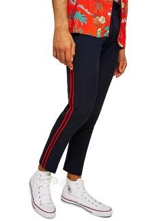 Topman Side Stripe Skinny Fit Trousers