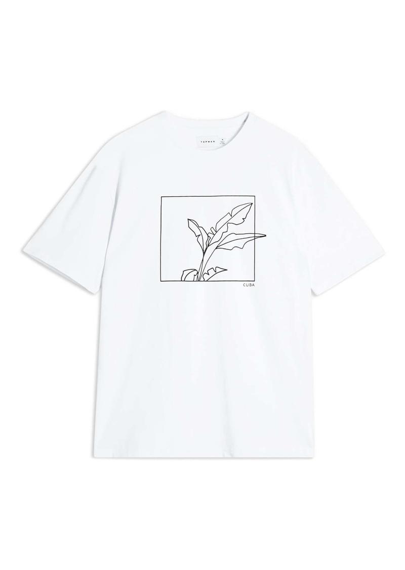 Topman Sketch Graphic T-Shirt