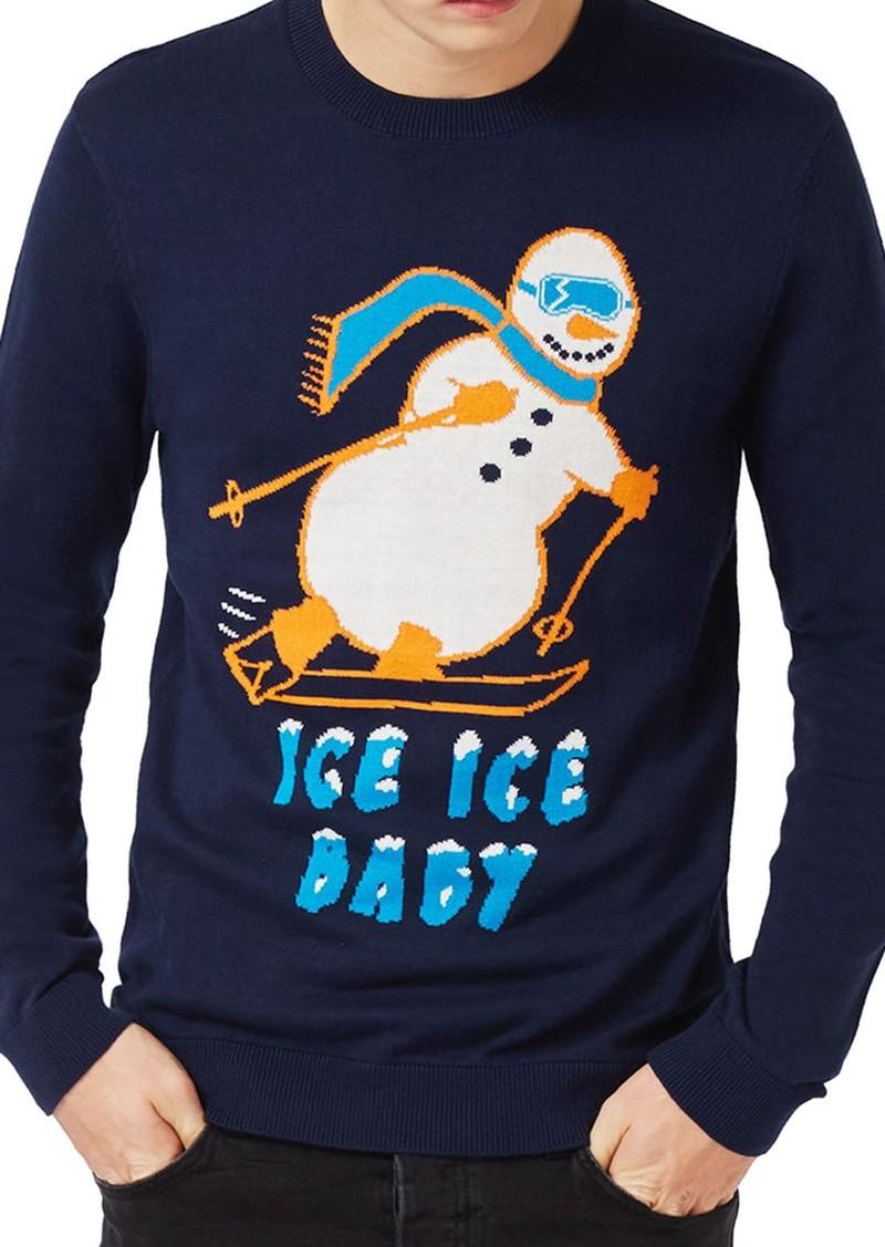 Topman Skiing Snowman Sweater
