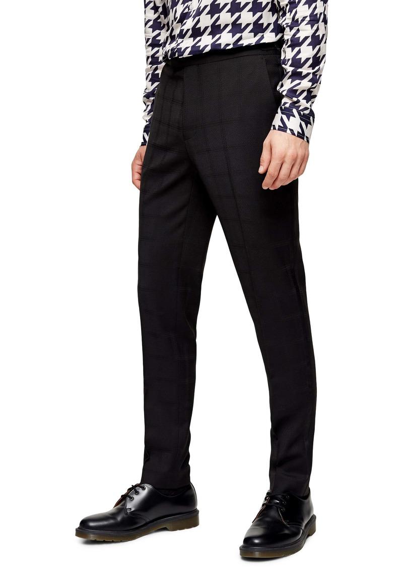 Topman Skinny Check Tux Trousers