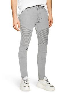 Topman Skinny Fit Biker Jeans