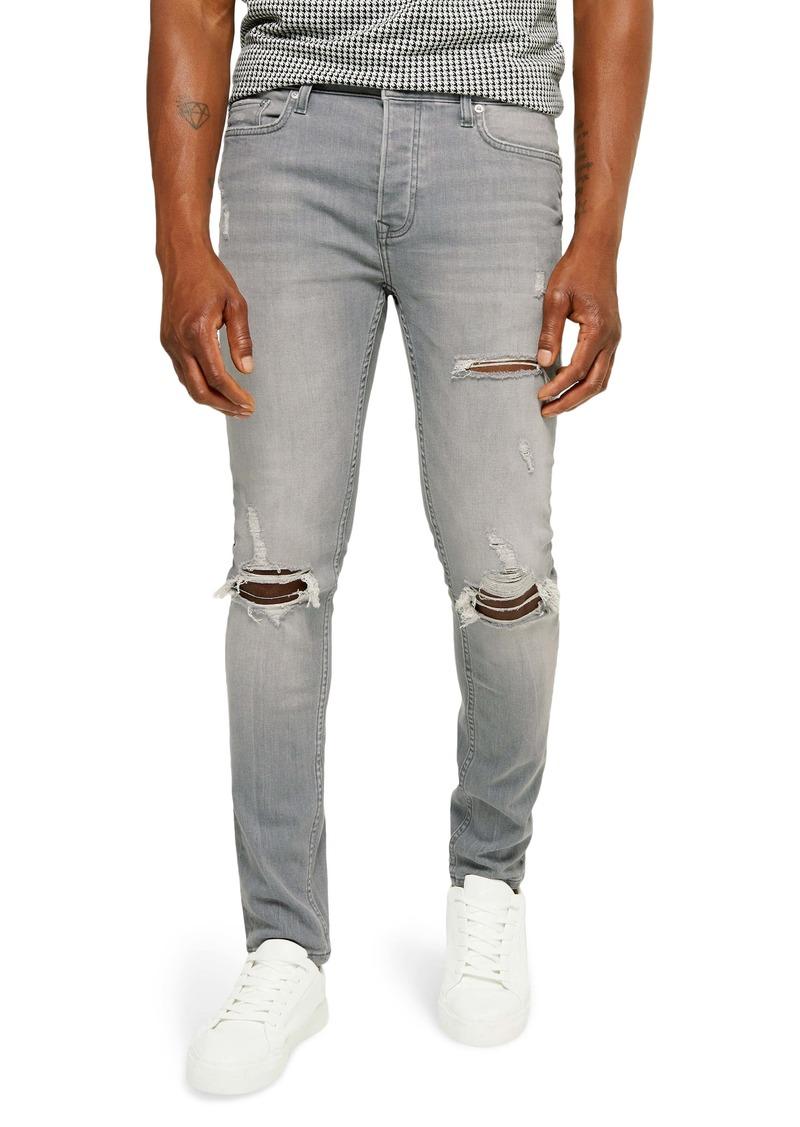 Topman Skinny Fit Blowout Jeans