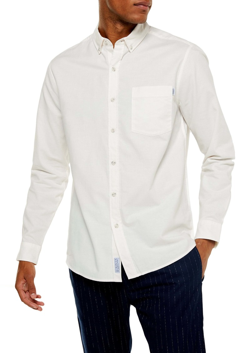 Topman Skinny Fit Button-Down Oxford Shirt